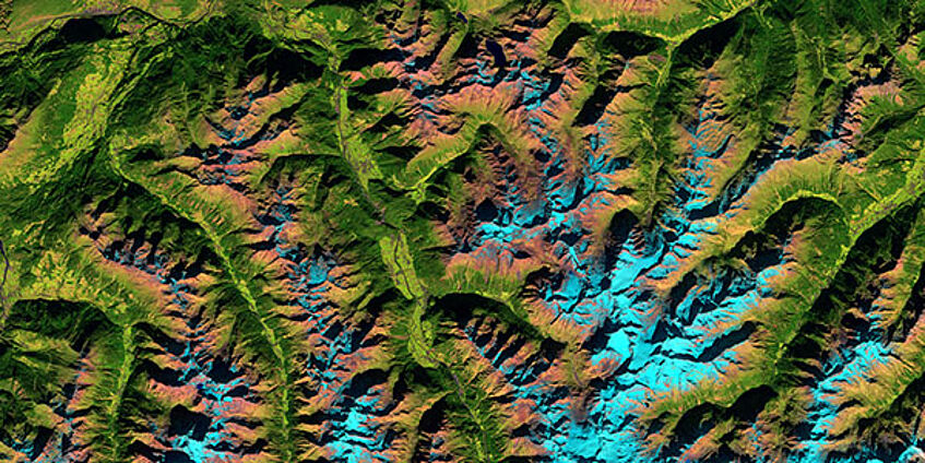 Oetztal Alps in satellite image