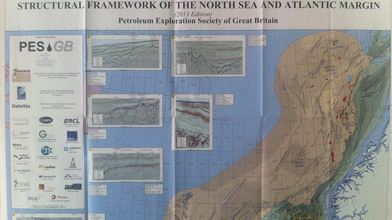 Map of the structural framework of the North Sea and Atlantic margin